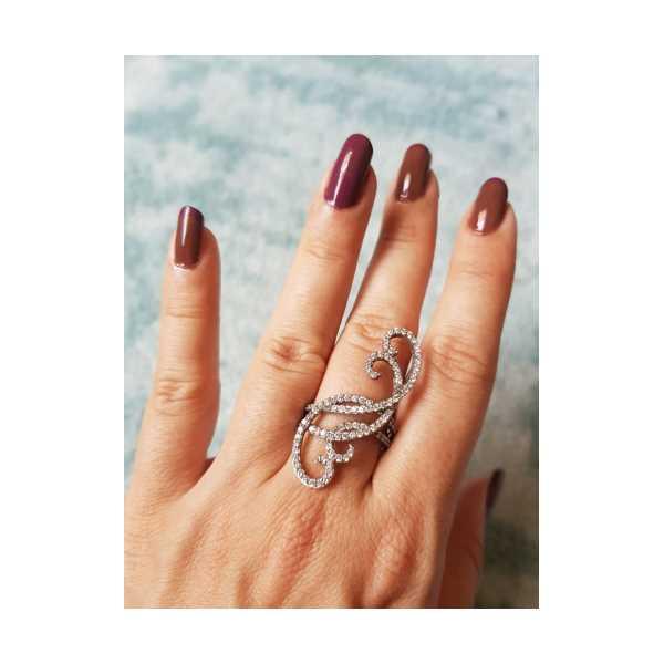Pırlanta Model İşaret Parmak Gümüş Yüzük