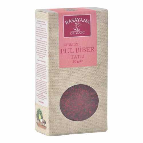 Rasayana Organik Kırmızı Pul Biber (TATLI) 50 Gr.