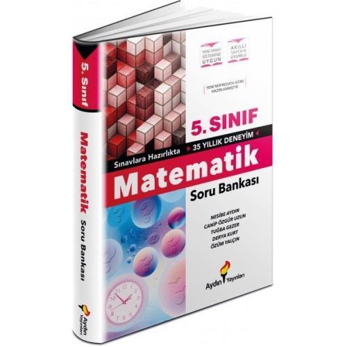 Aydın Yayınları 5.Sınıf Matematik Soru Bankası 2022 Aydın