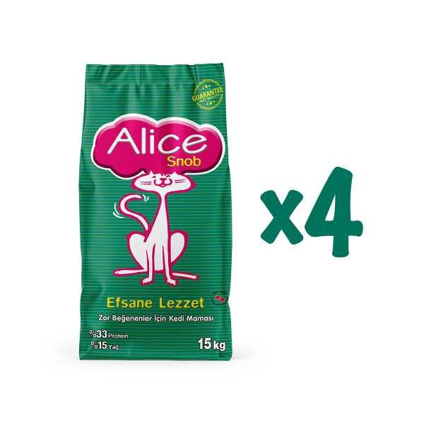 Alice Snob Kuru Kedi Maması 4'Lü Paket Kampanya