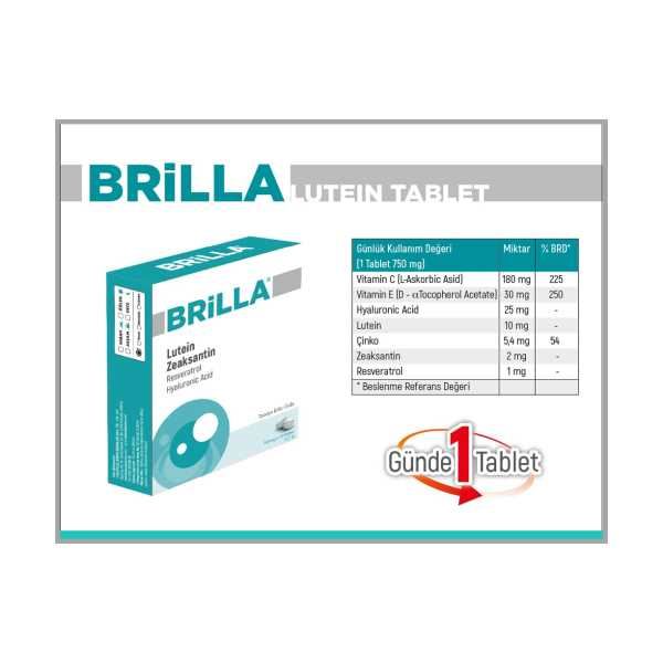 BRİLLA LUTEİN 30 TABLET