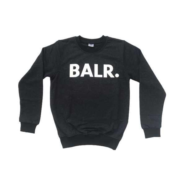 Erkek Uzun Kollu İki İplik Sıfır Yaka Bilekleri Lastikli Antrasit Sweatshirt ESY-BAL