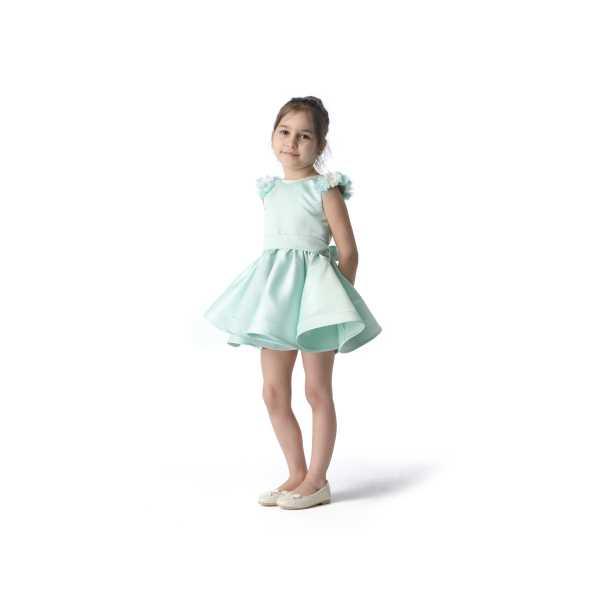 Tülü Akkoç Yeşil Abiye Prenses Elbise TAK21A300D