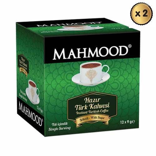 Mahmood Coffee Hazır Türk Kahvesi Şekerli 9 gr x 12 adet ( 2 ADET ) midyatziv