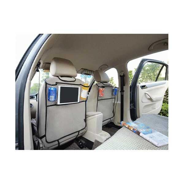 Araba Koltuk Arkası Şeffaf Koruyucu Kılıf Tablet Organizer(2 Adet)
