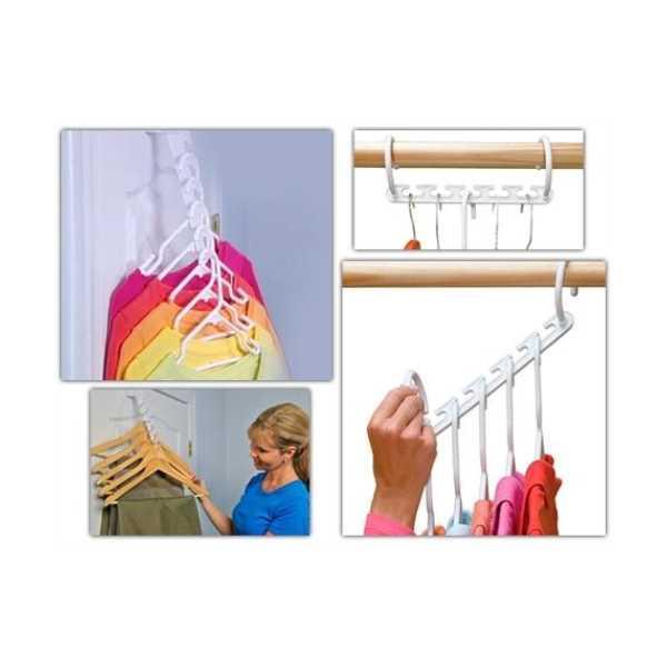 Wonder Hanger! 8 Adet Dolap Askılığı