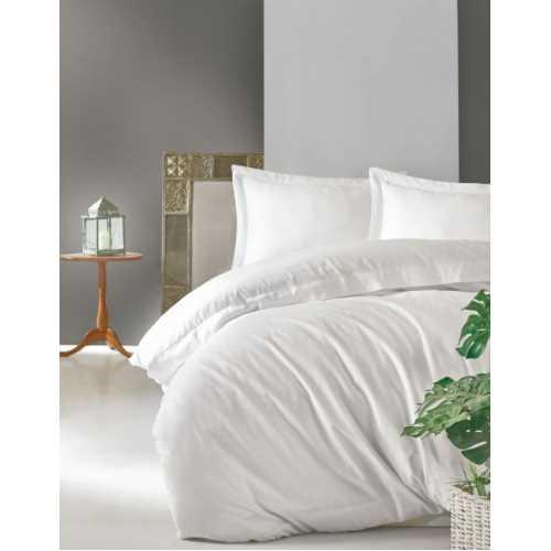 Cottonbox Elegant Seri Saten Çift Kişilik Nevresim Takımı Beyaz