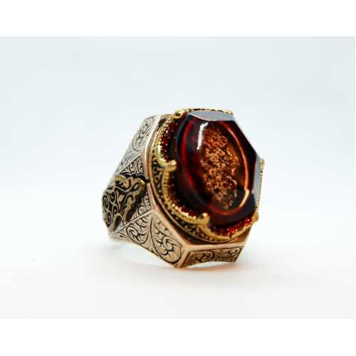 Osmanlı Selçuklu motifli tamamen el işi özel tasarım 925 ayar gerçek gümüş