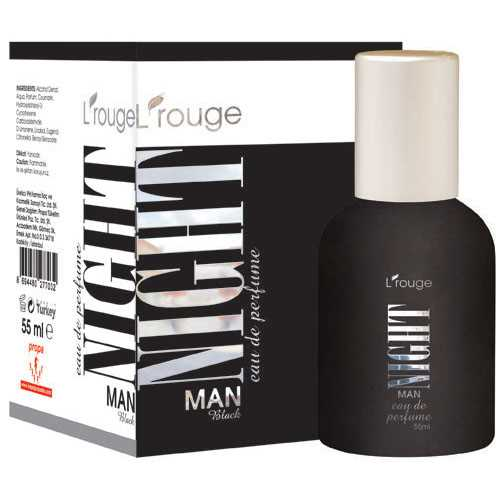 L'ROUGE NİGHT MAN BLACK PARFÜM 55 ML