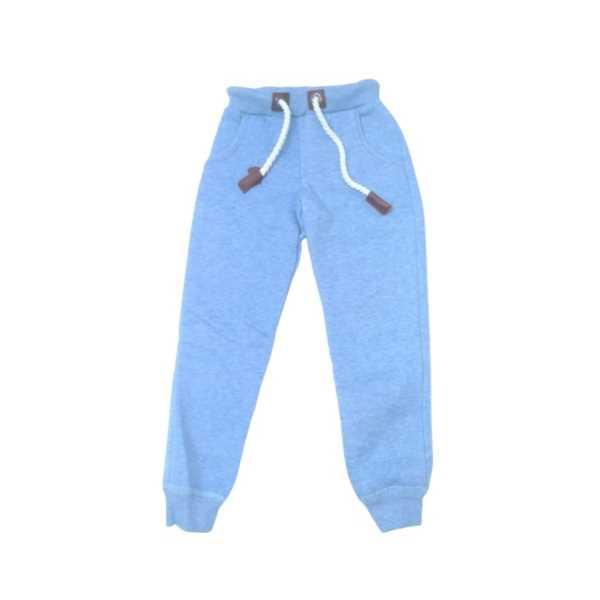 Erkek ve Kız Çocuk Cepli Lastikli Bağcıklı Pamuklu Mavi Eşofman Altı ÇEA-071606