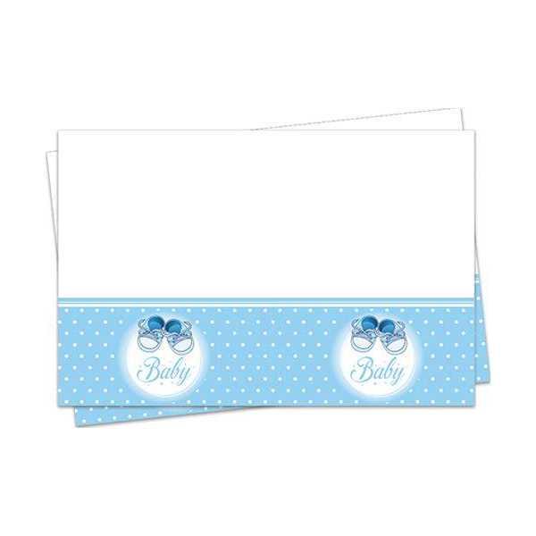 Mavi Patik Yeni Doğum Masa Örtüsü Erkek 120x180 cm