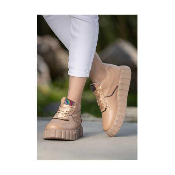 Siron Vizon Cilt Bağcıklı Spor Ayakkabı