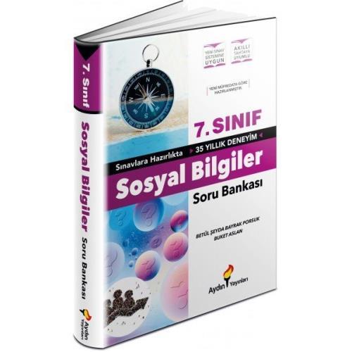Aydın Yayınları 7.Sınıf Sosyal Bilgiler Soru Bankası 2022  Aydın
