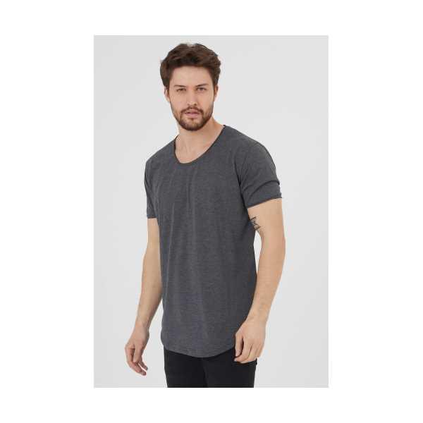 Erkek Füme Pis Yaka Salaş T-Shirt
