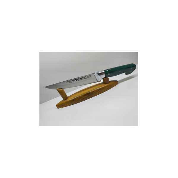 BIÇAKCI ÖKKEŞ 16 Cm Alüminyum Bilezikli Epoksi Saplı El Yapımı Dövme Çelik Sebze Bıçağı sebzeepoksi
