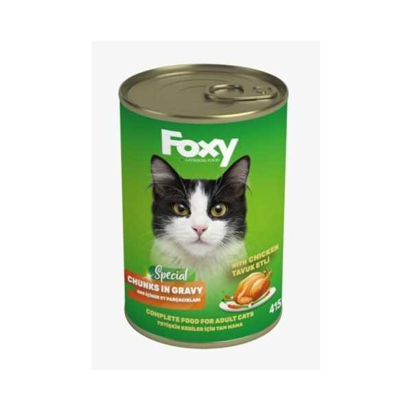 FOXY Kedi Maması 415Gr (TAVUKLU)