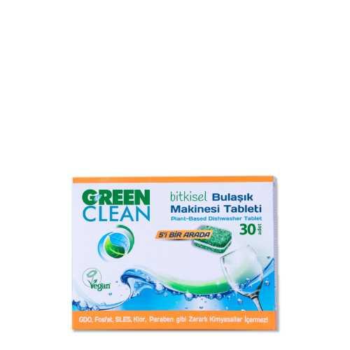 Green Clean Bitkisel Bulaşık Makinesi Tableti 30 Adet / 480 gr