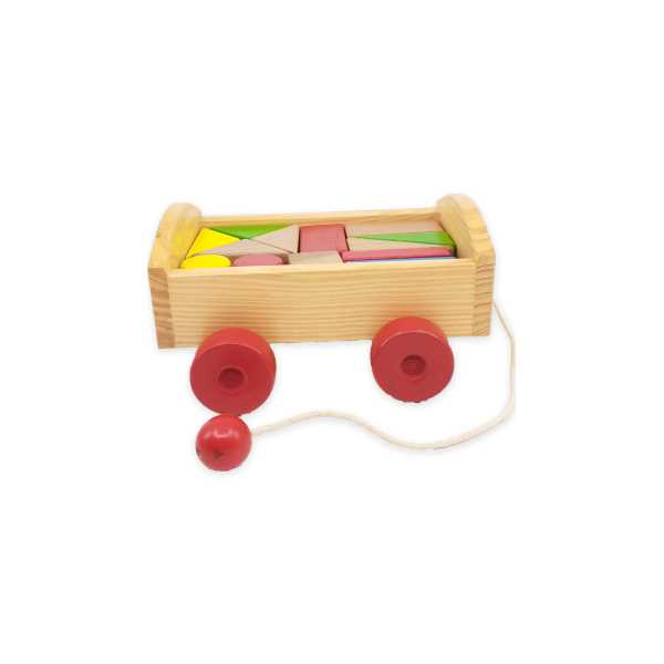 Montessori Eğitici Oyuncak: Ahşap Araba Geometrik Şekiller