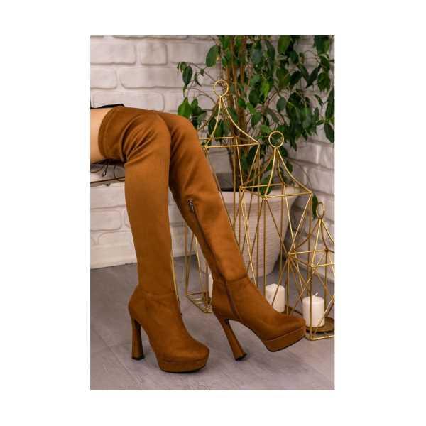 Elab Taba Süet Çorap Çizme