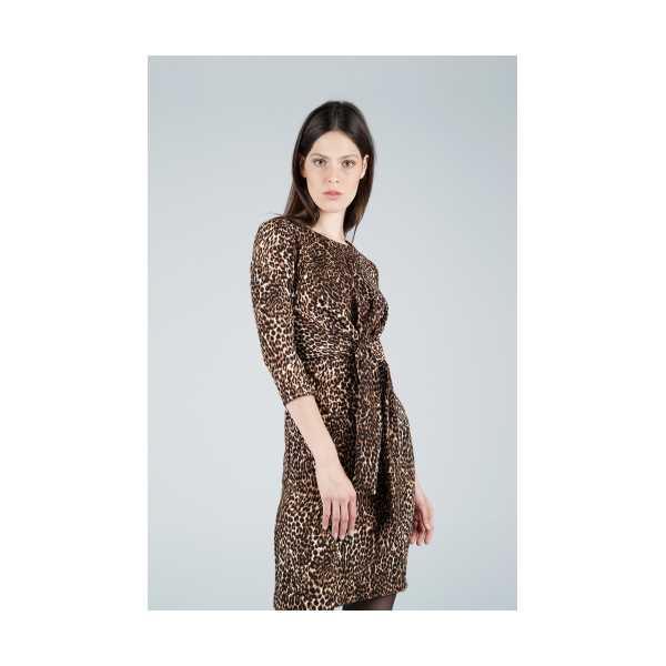 CLASS GİYİM Ekol Leopar Desenli Elbise