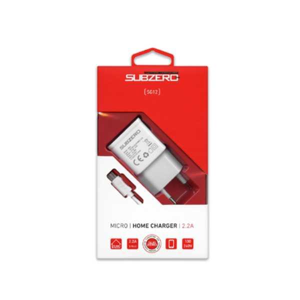Subzero SG12 2.2A Micro USB Home Charger Şarj Cihazı
