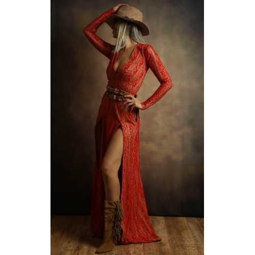 Horses & Women Koleksiyonu Red Elbise